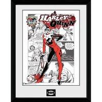 DC Comics Batman Comic Harley Quinn Comic - Framed Photographic - 16 Inch x 12 Inch - Comics Gifts