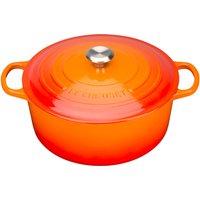 Le Creuset Signature Cast Iron Round Casserole Dish - 24cm - Volcanic