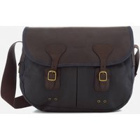 Barbour Mens Wax Leather Terras Bag - Navy