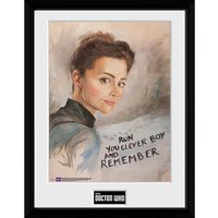 Doctor Who Clara Painting - 16 x 12 Inches Framed Photographic - Doctor Who Gifts