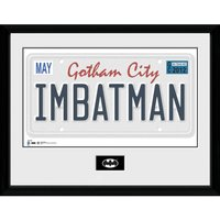 DC Comics Batman License Plate - 16 x 12 Inches Framed Photographic - Comics Gifts