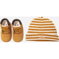Timberland Babies' Crib Bootie with Hat Gift Set - Wheat - UK 1.5 Baby
