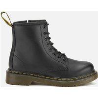 Dr. Martens Kids 1460 Softy Leather Lace-Up Boots - Black - UK 2 Kids