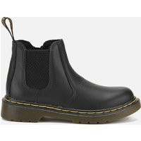 Dr. Martens Kids' 2976 J Softy T Leather Chelsea Boots - Black - UK 12 Kids