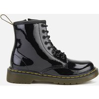 Dr. Martens Kids 1460 J Patent Limper Lace Up Boots - Black - UK 12 Kids - Black