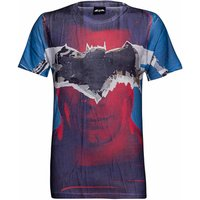 DC Comics Men's Batman Tear T-Shirt - Blue - XL - Blue - Batman Gifts