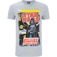 Star Wars Men's Empire Strikes Back T-Shirt - Grey - S - Grey - Star Wars Gifts