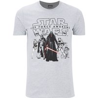 Star Wars Men's The First Order T-Shirt - Grey - L - Grey - Star Wars Gifts