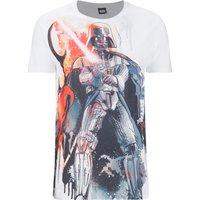 Star Wars Men's Vader Stencil T-Shirt - White - M - White - Star Wars Gifts