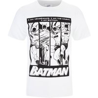 DC Comics Men's Batman I am Batman T-Shirt - White - XL - White - Batman Gifts