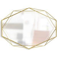 Umbra Prisma Geometric Mirror - Brass