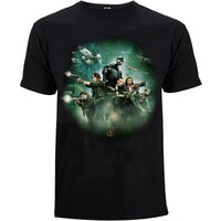 Star Wars Rogue One Men's Group Battle T-Shirt - Black - M - Black - Star Wars Gifts