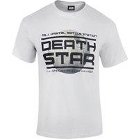 Star Wars Rogue One Men's Death Star Logo T-Shirt - White - L - Star Wars Gifts