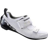 Shimano TR5 SPD-SL Triathlon Shoes - White - EU 51 - White