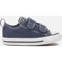 Converse Toddlers' Chuck Taylor All Star  Ox Velcro Trainers - Blue - UK 5 Toddler - Navy