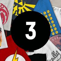 Mystery Geek T-Shirt - 3-Pack - Mens - L