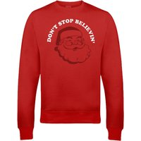 Don't Stop Believin' Christmas Sweatshirt - Red - S - Red