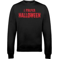 I Prefer Halloween Christmas Sweatshirt - Black - L - Black