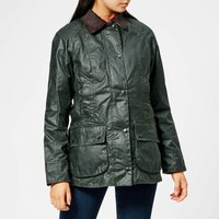 Barbour Womens Beadnell Wax Jacket - Sage - UK 16