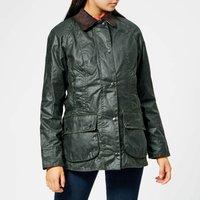 Barbour Women's Beadnell Wax Jacket - Sage - UK 10
