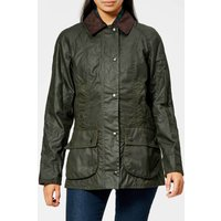 Barbour Womens Beadnell Wax Jacket - Olive - UK 14
