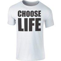Men's Choose Life Black Logo T-Shirt - White - XXL - White