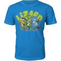 Lizard Cops T-Shirt - XL - Blue