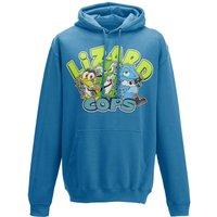 Lizard Cops Hoodie - Blue - L