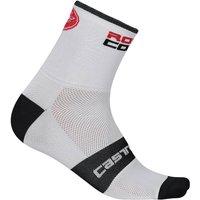 Castelli RoSso Corsa 9 Socks - White - XXL - White