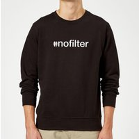 #Nofilter Slogan Sweatshirt - Black - S - Black