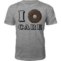 I Donut Care Slogan T-Shirt - Grey - XL - Grey