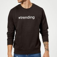 #Trending Slogan Sweatshirt - Black - S - Black