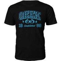 Geek Established 1990's T-Shirt- Black - M - 1996
