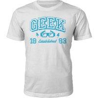 Geek Established 1990's T-Shirt- White - S - 1993