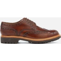 Grenson Men's Archie Hand Painted Leather Commando Sole Brogues - Tan - UK 9 - Tan