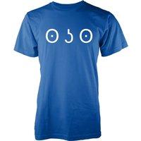 Men's Happy Nose Jemoticon T-Shirt - XL - Blue