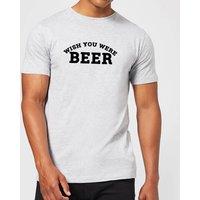 Beershield Wish You Were Beer Men's T-Shirt - XXL - Grey - Beer Gifts
