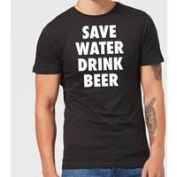 Beershield Save Water Drink Beer Men's T-Shirt - M - Black - Beer Gifts