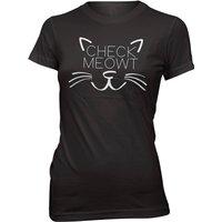 Check Meowt Women's Slogan T-Shirt - XXL - Black