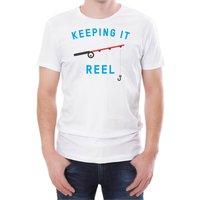 Keeping It Reel Men's White T-Shirt - XXL - White