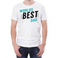 World's Best Dad Men's White T-Shirt - S - White