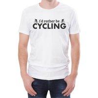 I'd Rather Be Cycling Men's White T-Shirt - L - White
