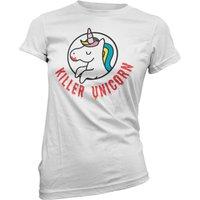 Killer Unicorn Women's White T-Shirt - L - White