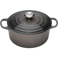 Le Creuset Signature Cast Iron Round Casserole Dish - 24cm - Flint