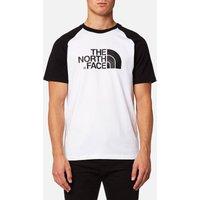 The North Face Men's Raglan Easy Short Sleeve T-Shirt - TNF White/TNF Black - S