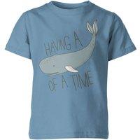 My Little Rascal Having a Whale of a Time Kids' T-Shirt - Light Blue - 7-8yrs - Blue