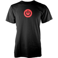 Gaming Power Button Mens Black T-Shirt - S - Black