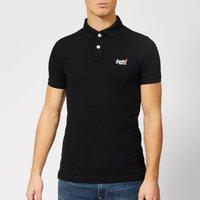 Superdry Men's Classic Pique Polo Shirt - Black - M