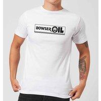 Nintendo Super Mario Bowser Oil Men's White T-Shirt - YL