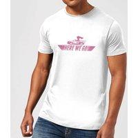 Nintendo Mario Kart Here We Go Peach Men's White T-Shirt - XXL - Light Grey
